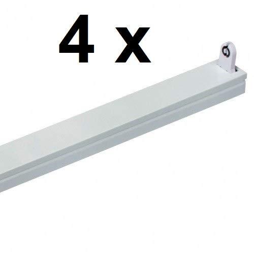 4 x LED Röhrenhalterung/Fassung für eine 120 cm T8 / G13 LED Röhre - als Ersatz für Leuchtstoffröhrenhalter - RH120-1 LED