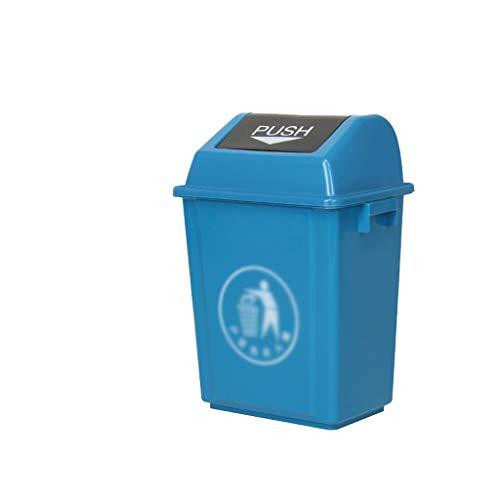 LSHWHT Clasificación de Bote de Basura Basura Industrial Can, Basura Gruesa de plástico al Aire Libre 40L Papelera de Reciclaje Inicio Aula del Hospital Papelera Cubos de Reciclaje