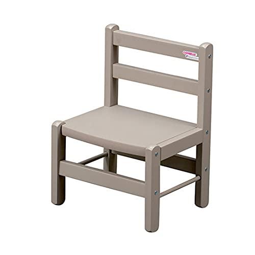 Chaise enfant gris laqué