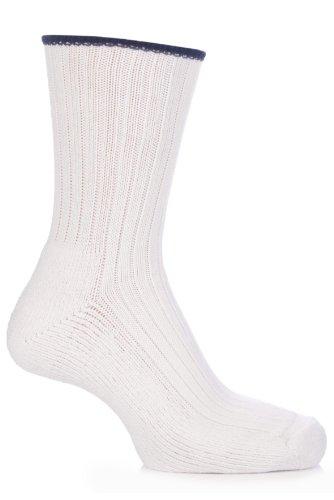 Glenmuir Herren und Damen 1 Paar Baumwolle gepolsterte Golf Socken In 10 Farben - 7-11 Mens - Weiß