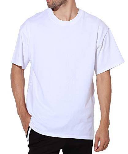 Hanes(ヘインズ) BEEFY Tシャツ ビーフィー 半袖 コットン 無地 L ホワイト