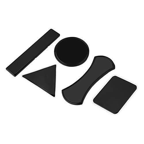 Multifunctionele nano-rubbersticker, anti-slip, herbruikbare kleverige mobiele telefoonhouder, mat, wasbaar, autopads, houder voor glas, spiegels, whiteboards, muur, keuken. (zwart)
