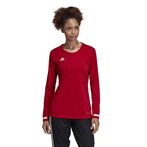 adidas Female Team 19 Long Sleeve Jersey,Power Red/White,L