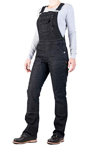 """Dovetail Workwear Freshley Overall Cosy - Women's Black Denim Size 14, 28"""" Length"""