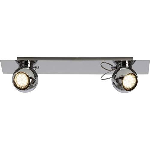 Brilliant Magnito LED Spotbalken 2 flg Deckenstrahler schwenkbar chrom 500 Lumen, 2x GU10 3W LED-Reflektorlampen inklusive