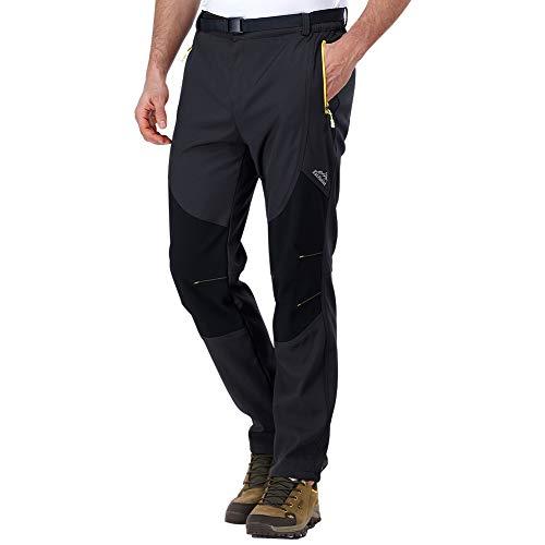 ZOEREA Hombre Pantalones de Trekking Impermeable Invierno Polar Forrado Hombres Pantalones Escalada Senderismo Montaña Aire Libre