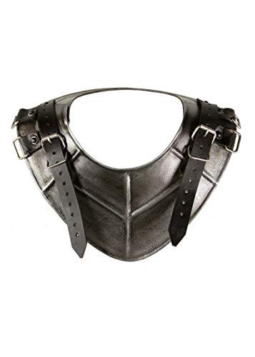 Epic Armoury Anneau de Col Dark Drake en Acier Plaque Protection épaule Style Moyen-Âge Schau Lutte Viking différentes Tailles L Noir