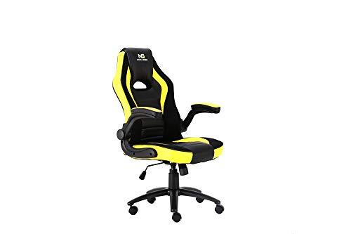 Nordic Premium Racing - Silla de Oficina para Juegos, Color Negro y Amarillo