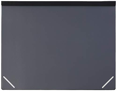 Artistic Lift Top Desk Pad with Opaque Overlay, Black/Frosted, 17.5