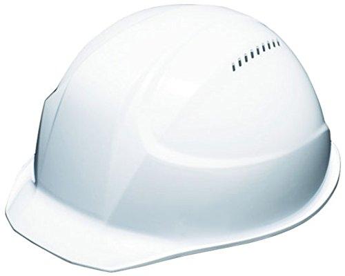 """TRUSCO(トラスコ) 超軽量ヘルメット""""軽帽"""" 通気孔付 ホワイト TD-AA17V-W"""