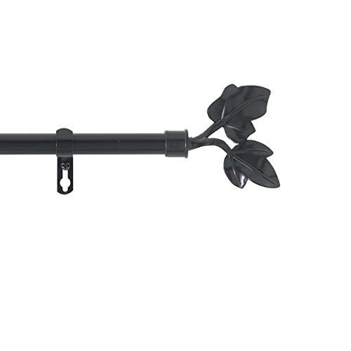 marque Douceur d'intérieur Kit Tringle Extensible 120 à 210 cm Peint Lierre Noir