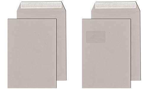 MAILmedia Versandtasche C4, Recycling grau, ohne Fenster 250 Stück