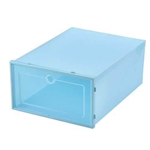 HehiFRlark Almacenamiento multifuncional de zapatos de pasillo para recibos Transparente Azul L