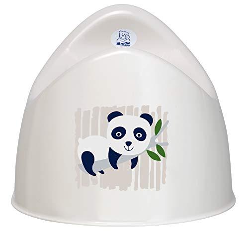 Rotho Babydesign Pot biologique motif Panda, 100% Biodégradable, 30,2 x 26,4 x 21,5 cm, Blanc biologique