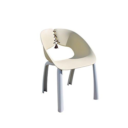 Leco Stuhl Trenda, 4er Set beige/weiß