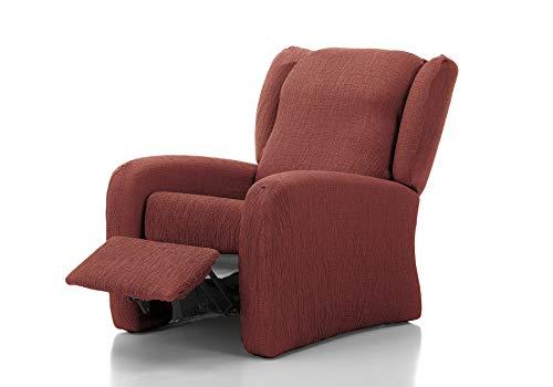 Funda de sofá Elástica Relax Beautiful (Relax 4 Piezas, Granate)