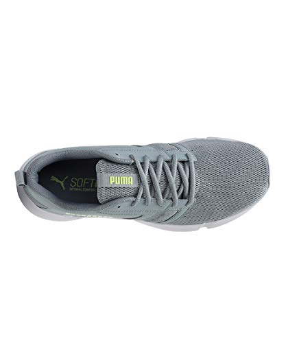 Puma Unisex Adult Flair Quarry-Fizzy Yellow White Running Shoes-9 Kids UK (19511202)