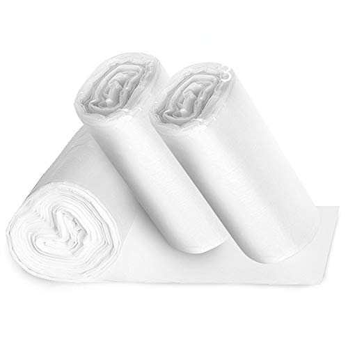 Small Clear Bathroom Trash Bags - 150, 1.2 Gallon Garbage Can Liners - Perfect for High End Restroom Waste Baskets