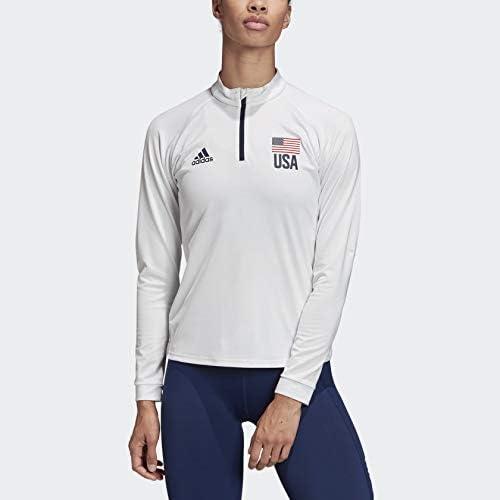 Amazon.com: adidas Women's USA Volleyball 1/4 Zip Tee : Clothing ...