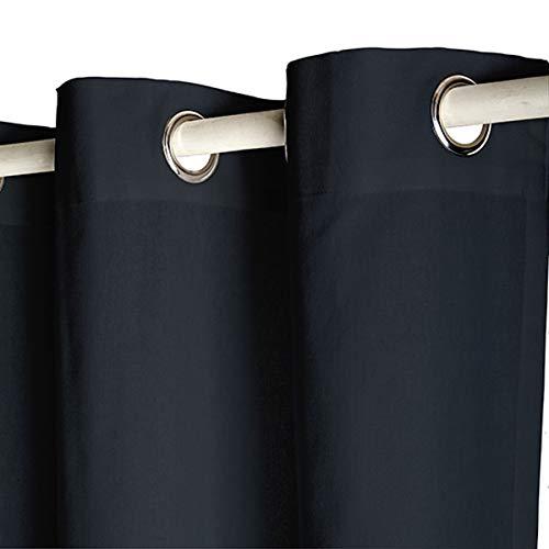 Today 257422 Rideau à œillets Coton Réglisse/Noir 140 x 250 cm