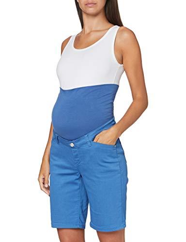 ESPRIT Maternity Damen Shorts OTB Umstandsshorts, Blau (Grey Blue 423), (Herstellergröße: 38)