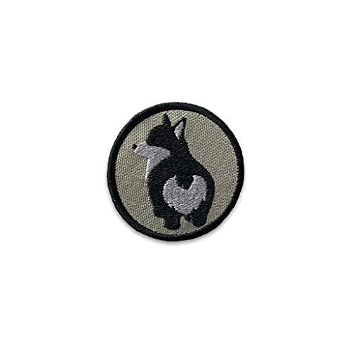 K9 Sport Sack Velcro Dog Patch for Dog Carrier Backpack (Corgi - Grey)