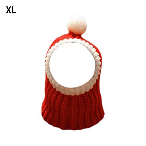 lingzhuo-shop rode en witte hond kerstmuts huisdier kostuum Kerstmis muts warm gehaakte snood winter huisdier breien hoofddeksels voor huisdieren vrouwen mannen