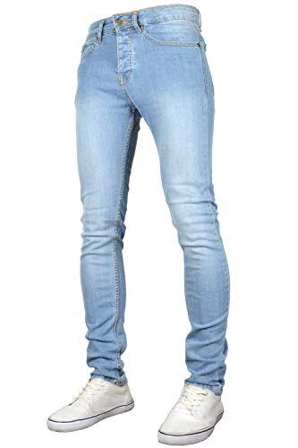 526Jeanswear Men's Raptor Stretch Skinny Fit Jeans (32W x 32L, Lightwash)