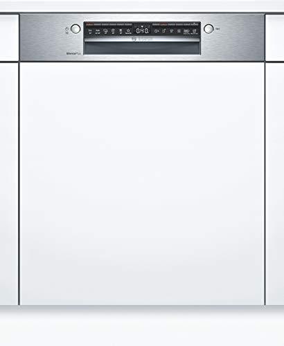 Bosch SMI4HAS48E Serie 4 Geschirrspüler Teilintegriert / A++ / 60 cm / Edelstahl / 262 kWh/Jahr / 13 MGD / SuperSilence / Extra Trocknen / VarioBesteckkorb / Home Connect