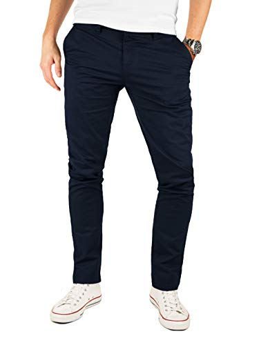 Yazubi Chino Herren Hose Navy - Kyle by Yzb Jeans Blaue Hosen - Business Chinohose für Männer mit Stretch, Blau (Night Sky 4R193924), W32/L30