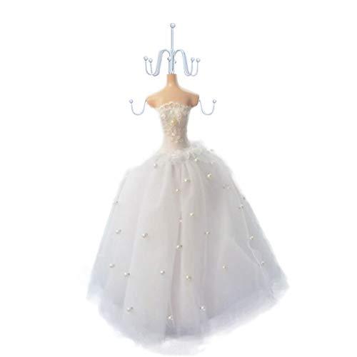 Bongles Schmuck Display-Ständer Ketten-Ohrring-Halter-Mannequin Schmuckständer Prinzessin Kleid Ständer Schmuck Hanger