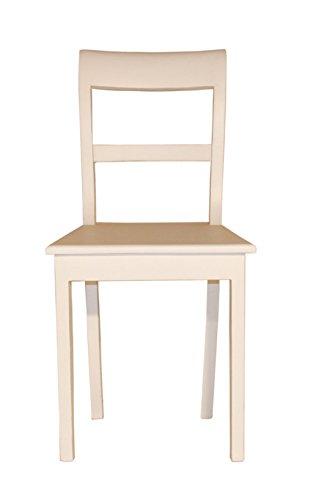 Stuhl Biedermeier weiß Landhausmöbel Stilmöbel Stühle Esszimmerstuhl