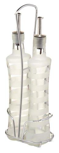 Kitchen Craft - Bottiglie per Olio e aceto in Ceramica Italiana, World of Flavours, 320 ml (Confezione da 2)