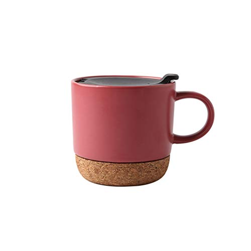 Hong Yi Fei-Shop Espresso Cup Set Tazas de cerámica Taza de café, Taza de Gran Capacidad Personalizado Taza de cerámica, Taza Creativa del Agua doméstica, Rojo Tazas de Espresso