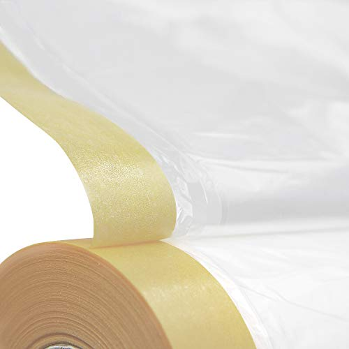 MyLifeUNIT Tape and Drape, Assorted Masking Paper for Automotive Painting Covering (66-Feet, 3 Sizes)