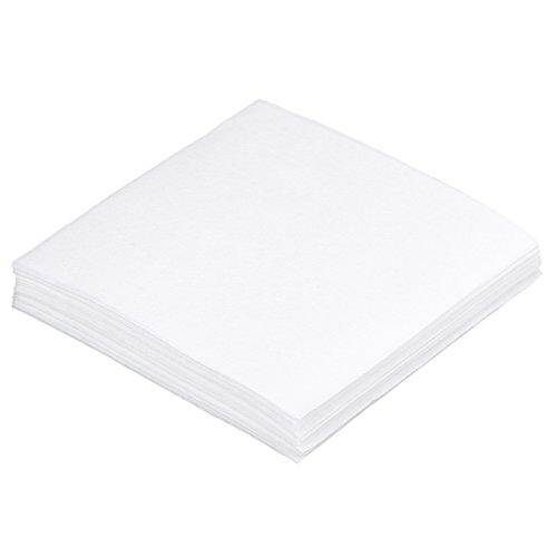 KLS Antistatische fusselfreie Reinigungstücher, staubfreies Papier, 10 x 10 cm, Glasfaser-Werkzeug, 1 Beutel / 50 Stück