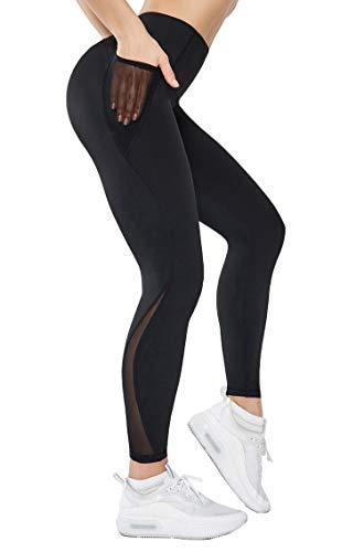 Gmardar Leggings Donna Fitness Leggins Donna a Vita Alta Leggins Sportivi con Tasca Elegante Lunghi Contenitivi Coprenti Leggeri Resistenti Taglie For