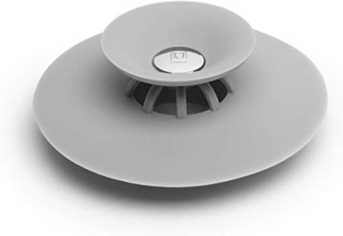 Umbra Flex Badewannenstöpsel und Haarsieb – Abfluss Stöpsel und Abflusssieb für Dusche, Badewanne,