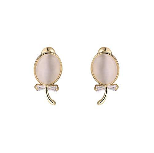 Pendientes de ojo de gato tachuelas de piedra marea temperamento femenino pendientes de gama alta pendientes de plata de moda simple -A
