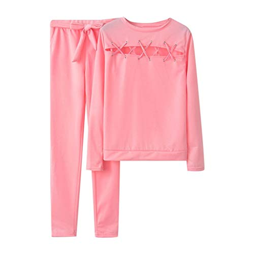 Best Prices! Women Casual 2 Piece Sport Outfits Long Sleeve Pullover Tops Sweatpants Outfits Set
