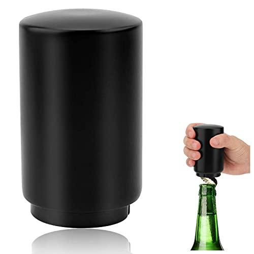 Goldmiky Abrebotella, Abrebotella Automático, Portátil Abrebotellas, Abrebotellas Magnetico, Cerveza Abridor de Botellas de Acero Inoxidable para Bar, Fiesta, Barbacoa, Cocina, Rápido y Fácil (Negro)