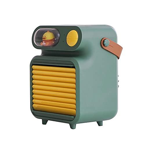 YUYI Climatizadores evaporativos Enfriador de Aire portátil, Ventilador portátil, Ventilador de la Niebla de Agua Aerosol, Flujo de Aire de batería de 4000mAh Recargable, Ruido Inferior, 3 velocidade