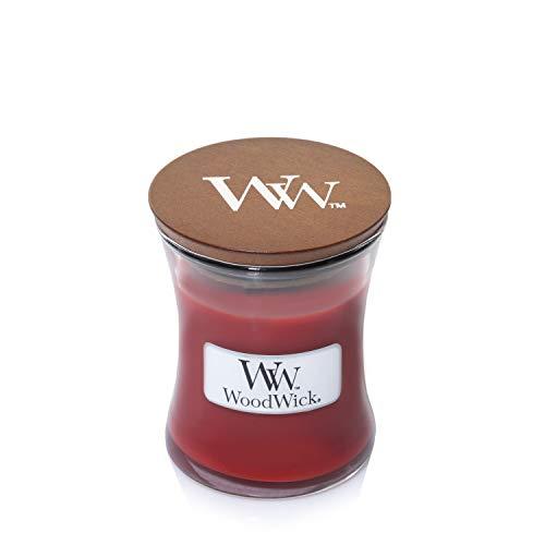 Woodwick Canela Chai Vela aromática en Tarro pequeña, Rojo, 6.9x6.8x7.8 cm
