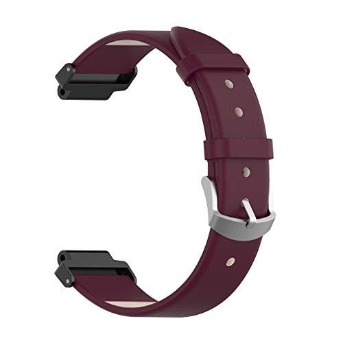MuSheng Bracelet Compatible pour Garmin Forerunner 220 230 235 630 620 735,Bande de Remplacement Réglable Sangle Rechange Métal Connecteurs Accessoires (Violet)