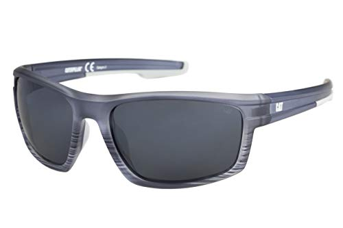 Caterpillar Men's Motor Polarized Sunglasses Rectangular, Matte Navy Crystal Fade, 62 mm