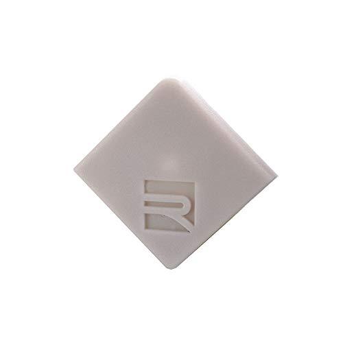 reprofil Accessoires pour LED Profil E AV 02–10 Embout, Lot de 2, gris 980521
