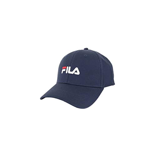 Fila 6 Panel Strap Back Linear Logo Cap Navy