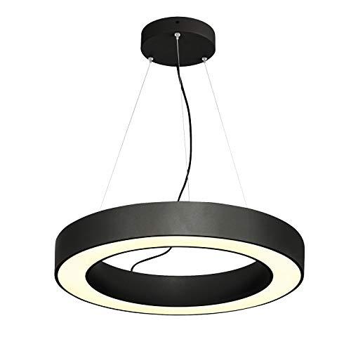 SLV Lámpara colgante MEDO RING 60 DALI / Lámpara de salón, iluminación interior, lámpara colgante para comedor, LED, 3000 K, 34 W, 2000 lm, color negro, regulable