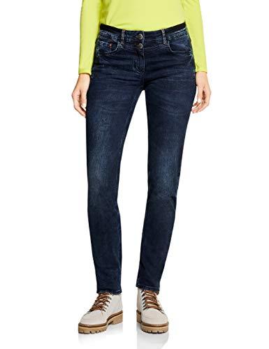 Cecil Damen 372703 Charlize Slim Jeans, Blau (Dark Blue Used wash 30262), 27W / 32L