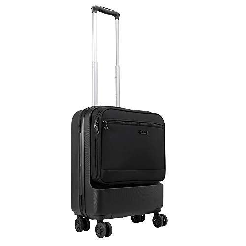 Cabin Max Fusion ABS Carry on Suitcase with Front Quick Access Pocket 55x40x20 4 Wheels